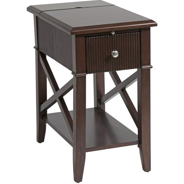 Amboyer Chairside Table in Rich Cordovan by Darby Home Co