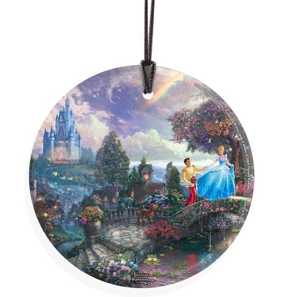 Thomas Kinkade (Cinderella Wishes Upon A Dream) Hanging Shaped Ornament by Trend Setters
