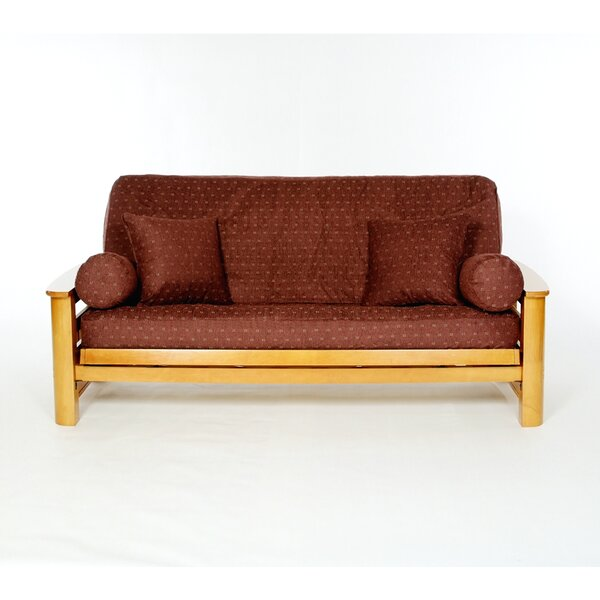 Claret Box Cushion Futon Slipcover by Lifestyle Covers