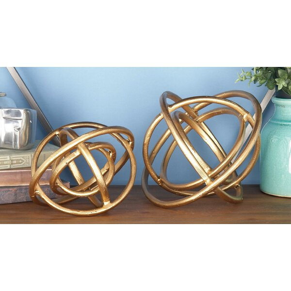 2 Piece Decorative Aluminum Ring Orb Set by Cole & Grey
