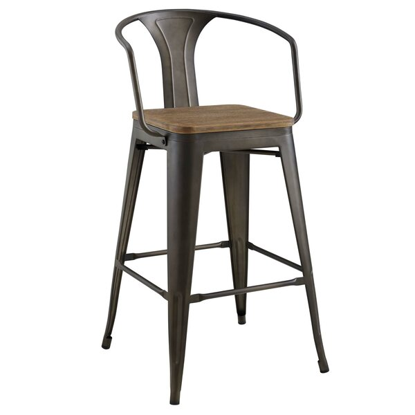 Ashlyn 30 Powder Coated Steel Bar Stool by Williston Forge