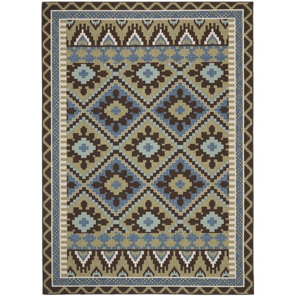 Rangely Brown/Green Indoor/Outdoor Area Rug by Loon Peak