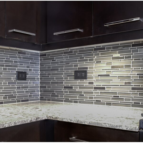 Flash 12 x 13 Glass Linear Mosaic Tile in Bright by Emser Tile
