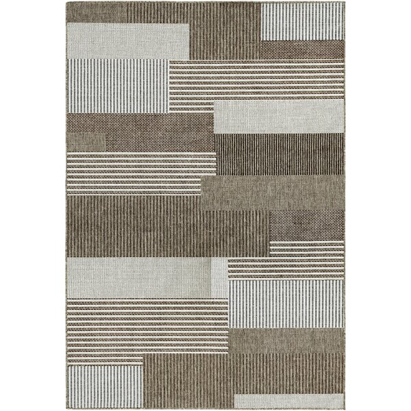 Saldana Brown/Ivory Indoor/Outdoor Area Rug by Zipcode Design