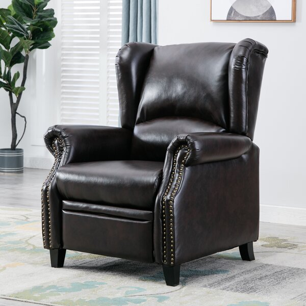 Amariona Faux Leather Manual Recliner W003475673