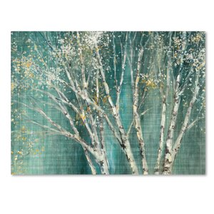 'Blue Birch' Print on Wrapped Canvas by Trademark Fine Art