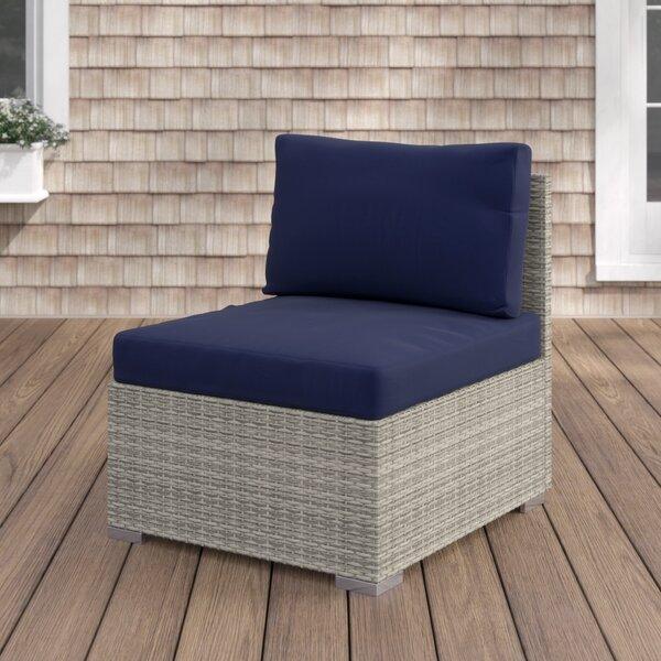 Heiner Fabric Armless Patio Chair with  Sunbrella Cushion by Highland Dunes