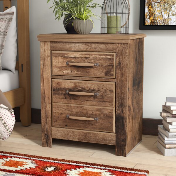 Petersfield 2 Drawer Nightstand by Three Posts