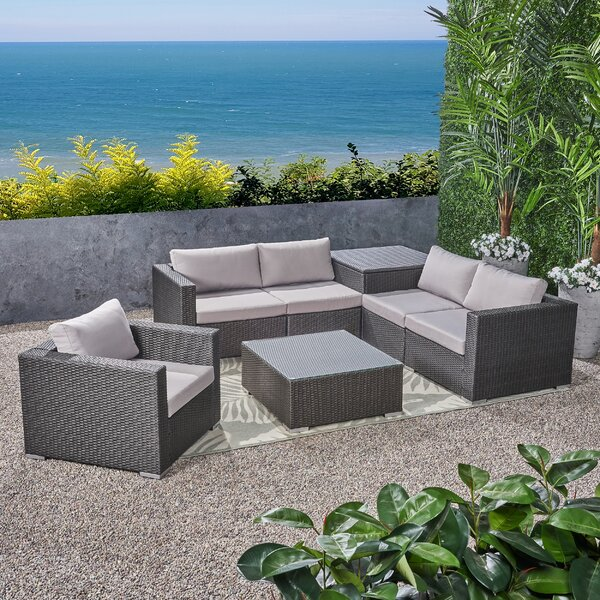 Paloalto 7 Piece Sectional Seating Group with Cushions by Brayden Studio