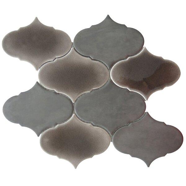 Retro 3 x 3 Porcelain Mosaic Tile in Chrome by Emser Tile