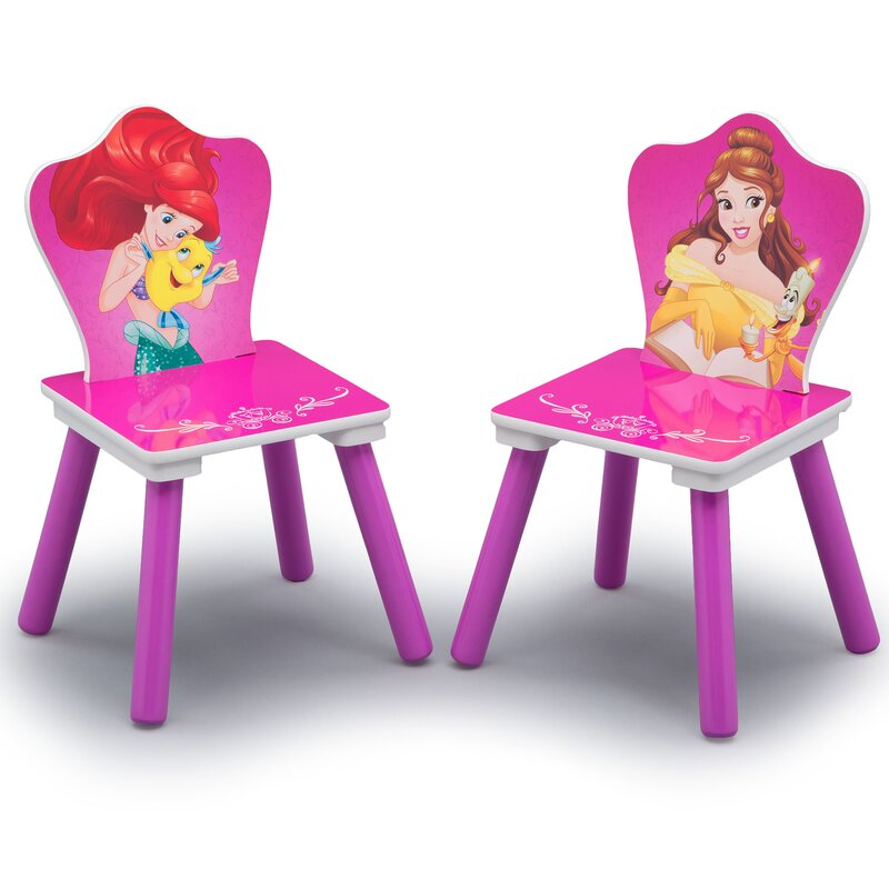 Delta Children Disney Princess Arts and Crafts Table and Chair Set ...