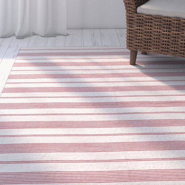 Alicea Hand-Woven Fuchisa Area Rug by Three Posts