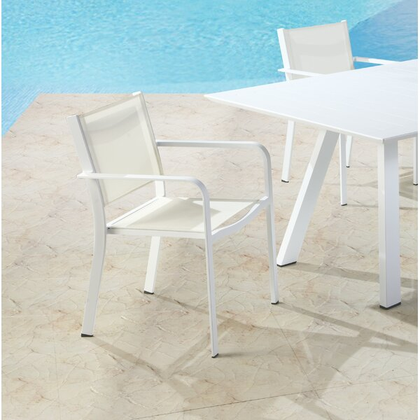 Malibu Stacking Patio Dining Chair (Set of 4) by Latitude Run