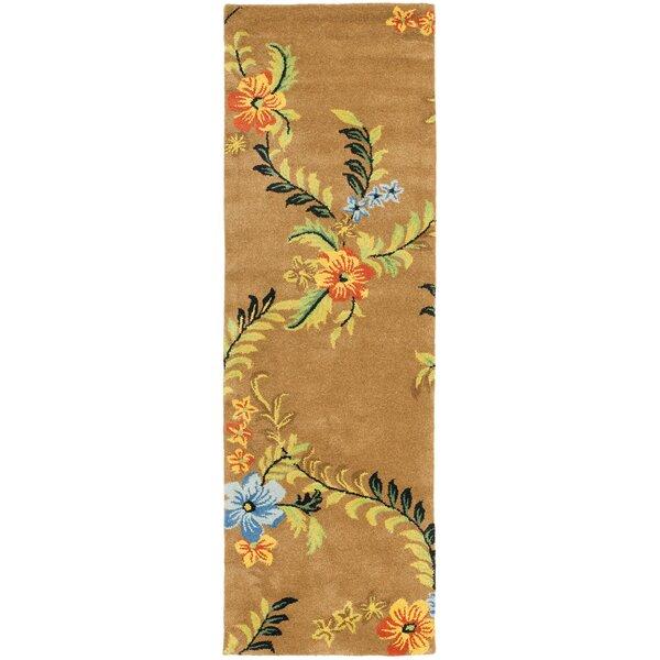 Eldridge Brown Floral Area Rug by Winston Porter