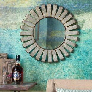 Gracie Oaks Mumford Metal Wind Mill Accent Mirror