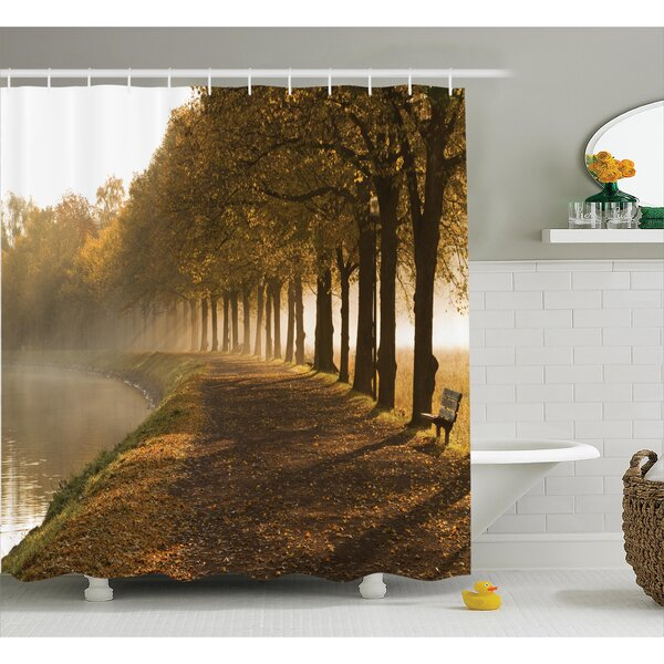 Clovis Walkway at The Canal Decor Shower Curtain by Ebern Designs