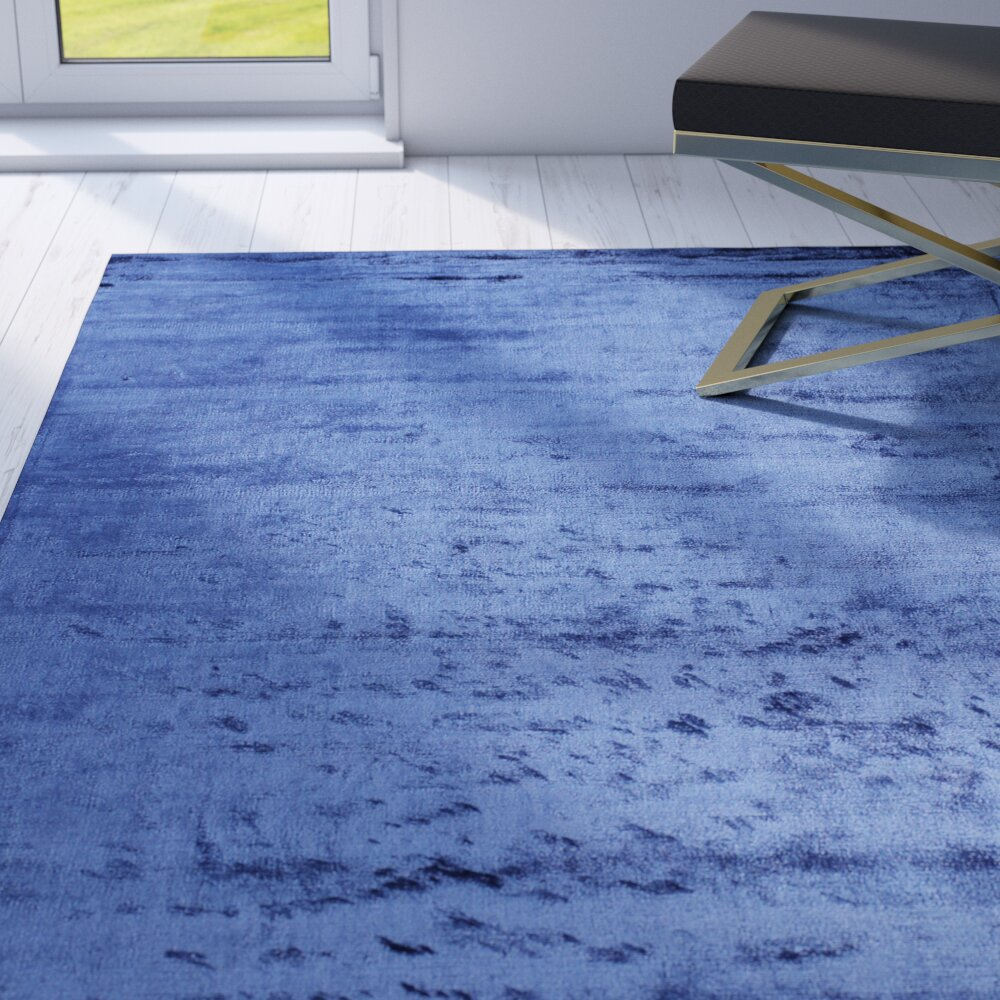Willa Arlo Interiors Doyle Hand-Woven Cobalt Area Rug | Wayfair