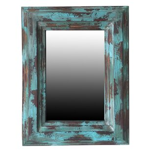 Loon Peak Rectangle Blue Accent Wall Mirror