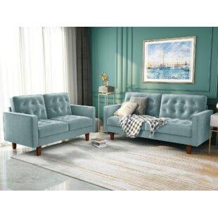Corianna 2 Piece Standard Living Room Set by Latitude Run®