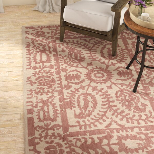 Montgomery Hand-Tufted Rose/Cream Area Rug by Laurel Foundry Modern Farmhouse