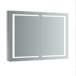 Read Reviews Spazio 48 x 36 Recessed or Surface Mount Frameless Medicine Cabinet with LED Lighting and Defogger By Fresca