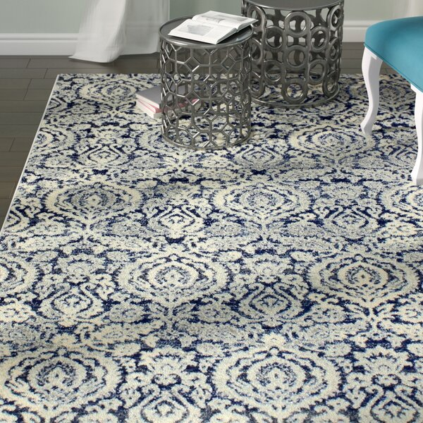 Bodell Dark Blue Area Rug by Rosdorf Park