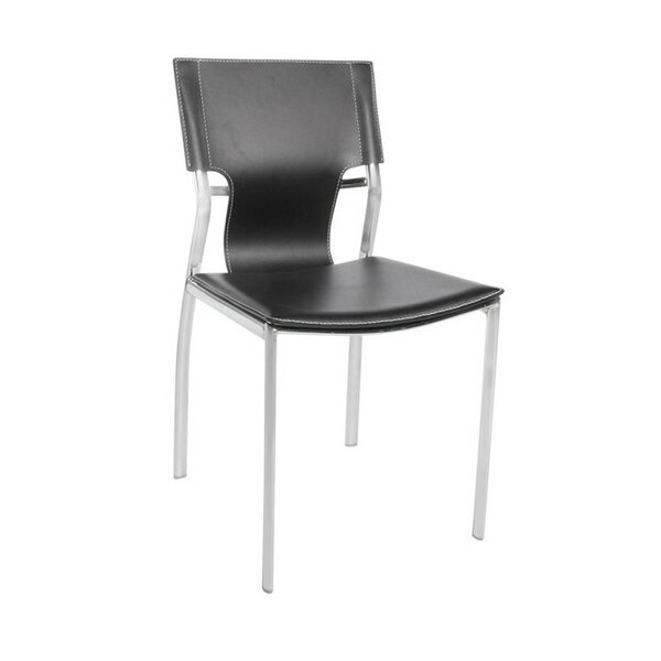 Brucker Leather Upholstered Dining Chair by Orren Ellis