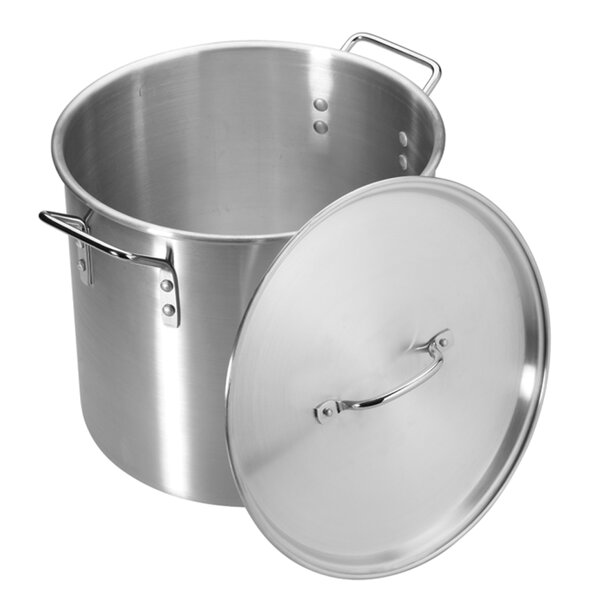 Stock Pot with Lid by Pedrini