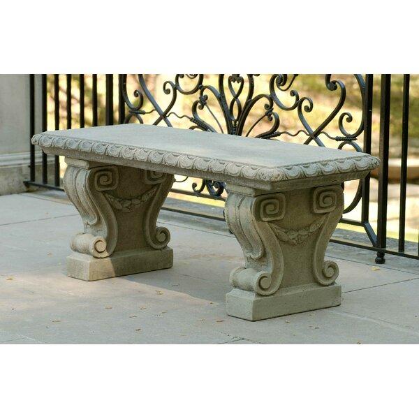 Longwood Cast Stone Garden Bench by Campania International