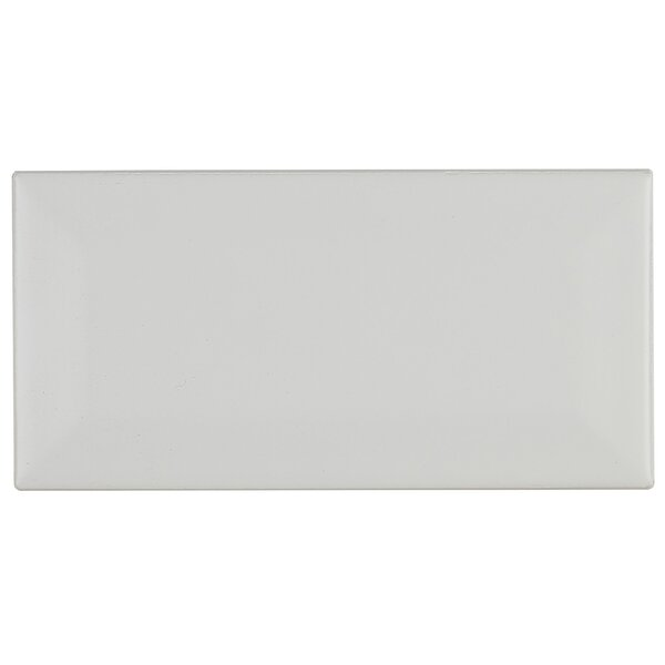 Guilford 3 x 6 Beveled Ceramic Subway Tile in Matte Arctic White by Itona Tile