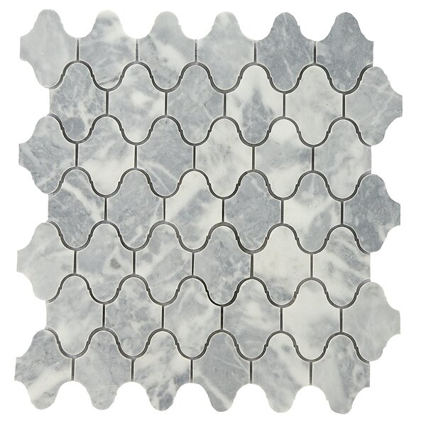 Milford 2 x 2 Marble Mosaic Tile in Gray/White by Byzantin Mosaic