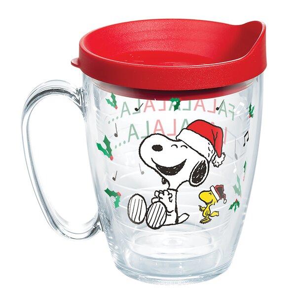 Peanuts Christmas Snoopy Santa 16 oz. Plastic Travel Tumbler by Tervis Tumbler