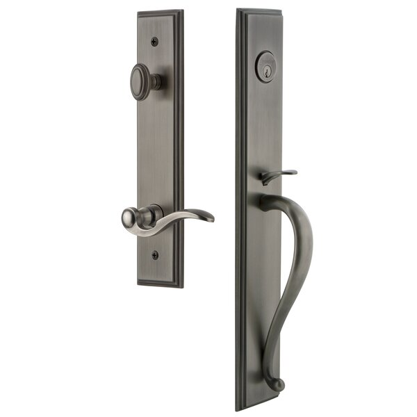 Carré S Grip Dummy Handleset with Bellagio Interior Lever by Grandeur
