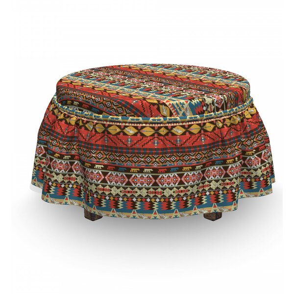 Aztec Birds Arrows Ottoman Slipcover (Set Of 2) By East Urban Home