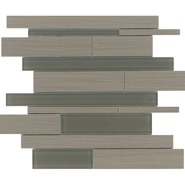 Thread Random Sized Porcelain Mosaic Tile in Olive by Emser Tile