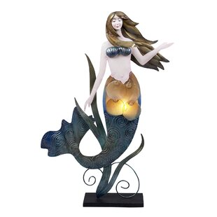 Bargain Koa Mermaid Figurine 23 Table Lamp By Highland Dunes