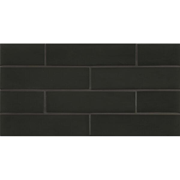 Remy Glass Mosaic Matte Mesh Mount Tile in Black by Grayson Martin
