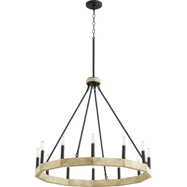 Ari 12 - Light Unique / Statement Wagon Wheel Chandelier by Gracie Oaks Gracie Oaks