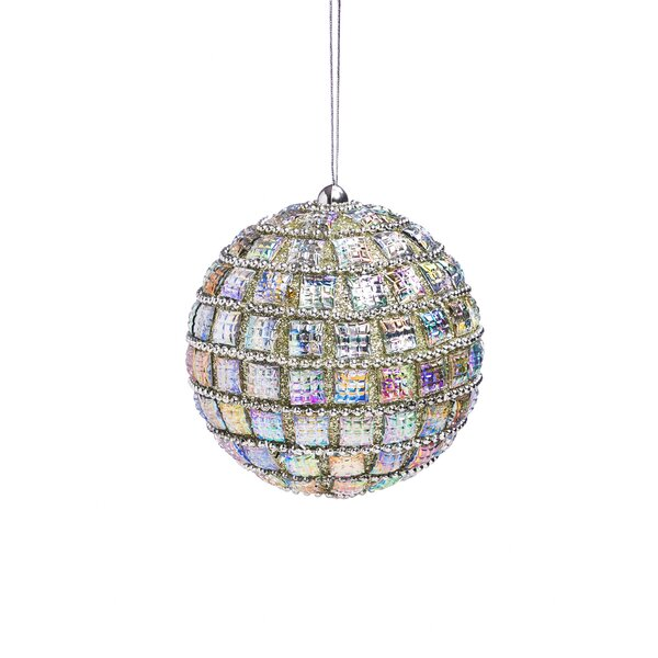 Silver Sparkle Ball Ornament by The Holiday Aisle