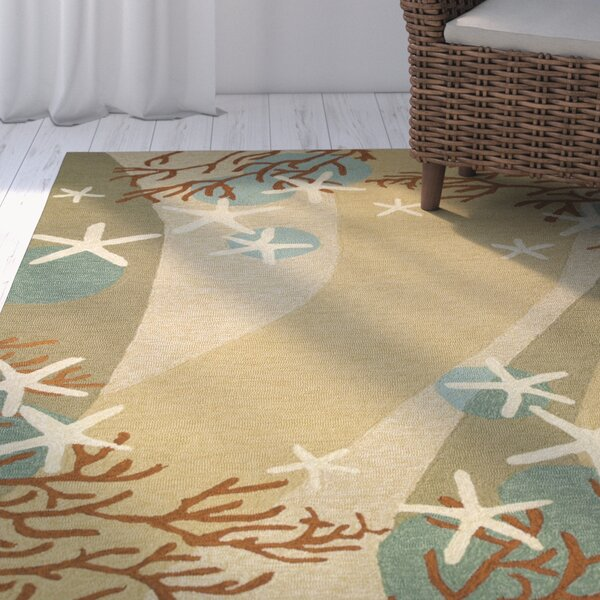 Coeymans Coral Waves Indoor/Outdoor Area Rug by Highland Dunes