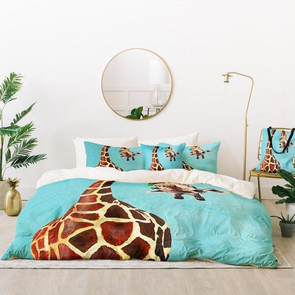 Coco de Paris Giraffe with Leaf Duvet Cover Set