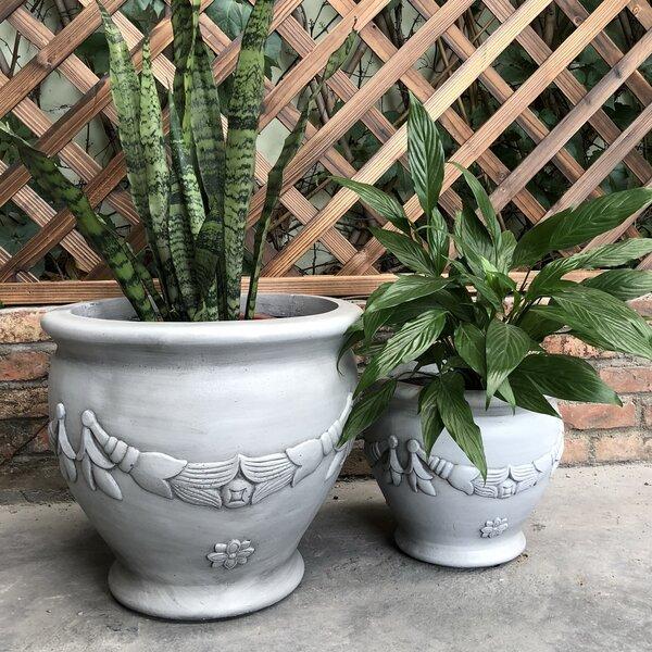 Okehampt Garland Jar 2-Piece Pot Planter Set by Charlton Home