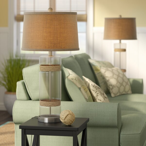 Swarthmore Glass 31 Table Lamp (Set of 2) by Rosecliff Heights