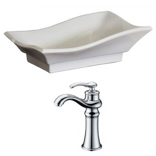 Savings Above Counter Ceramic Specialty Vessel Bathroom Sink with Faucet By Royal Purple Bath Kitchen