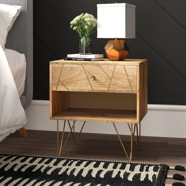 Banas 1 Drawer Nightstand By Mercury Row by Mercury Row New Design