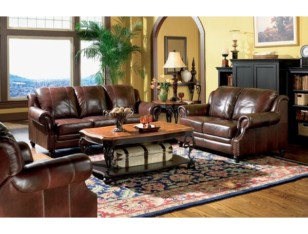 Rosetta Reclining Leather Configurable Living Room Set by Darby Home Co