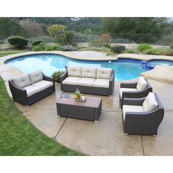 Leib 5 Piece Sofa Set with Cushion by Latitude Run
