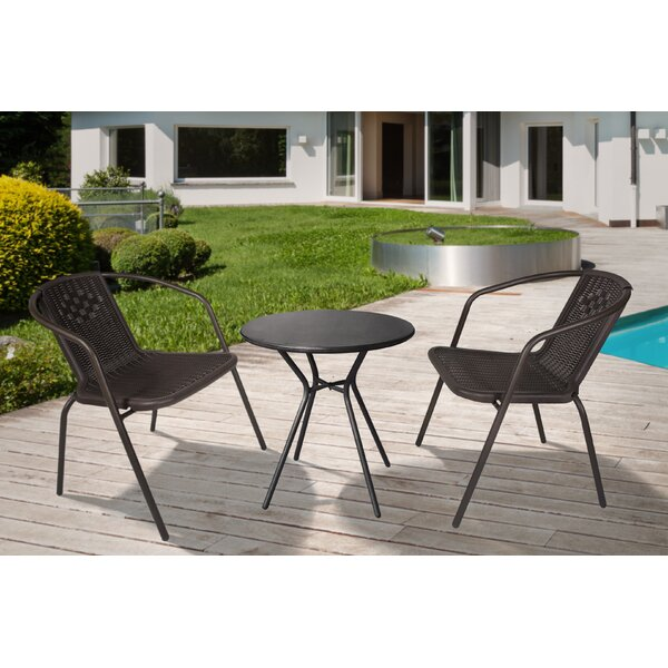 Faye Outdoor 3 Piece Seating Group by Bay Isle Home