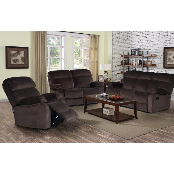 Zinnia Reclining 3 Pieces Living Room Set by Red Barrel Studio