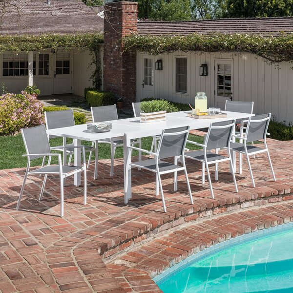 Walden 9 Piece Outdoor Patio Dining Set by Latitude Run